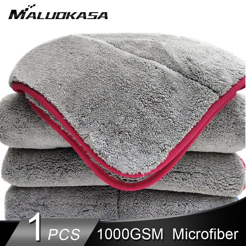 Drying-Towel Microfiber-Wax Cleaning-Cloth Plush 1000GSM Detailing Polishing Wash Super-Thick