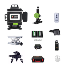 Laser 16 Đường Dây Xanh 3D Tự Cân Bằng Độ Cao 360 Ngang Và Dọc Siêu Mạnh Laser Xanh Tia laser