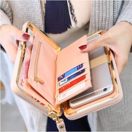 2020 New Casual Long Women Heel Purses Box Wallets Card Holder Mobile Handbag Case Storage Bag Home