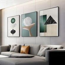 3 pçs lona poster imprime imagem para sala de pintura decorativa nórdico moderno abstração mural decoração para casa pintura sem moldura