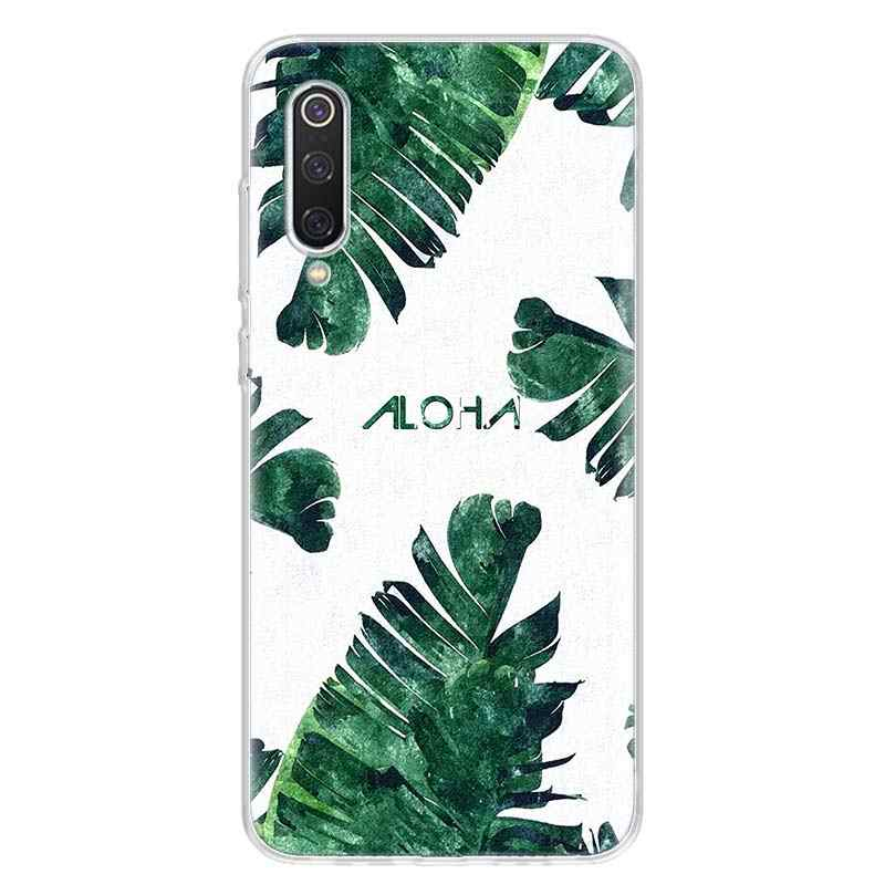 استوائي النبات الأخضر ورقة زهرة قضية الهاتف ل شاومي Redmi نوت 9 8 7 8A 7 7A 6A S2 K20 K30 8T 9S MI 9 8 CC9 F1 برو الموضة المشارك