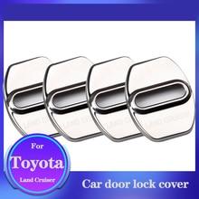 For Toyota Land Cruiser Prado Car Door Lock Cover Stainless Steel Stopper Door Lock Protection Buckle Accessories 4 Pieces/Set