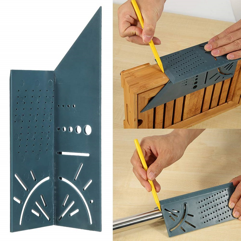 Woodworking Scribe Mark Line Gauge T-Type Ruler Square Layout Miter 90 Degree