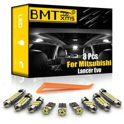 BMTxms 11 pièces Canbus pour Mitsubishi Outlander Xl 2 2007-2012 véhicule LED intérieur carte dôme lumière plaque d'immatriculation lampe éclairage de voiture