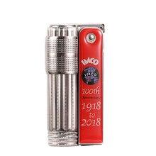 Novo (1918 a 2018) imco flint gasolina isqueiro 100th aniversário nostálgico edição limitada série de cigarros (1918 a 2018)