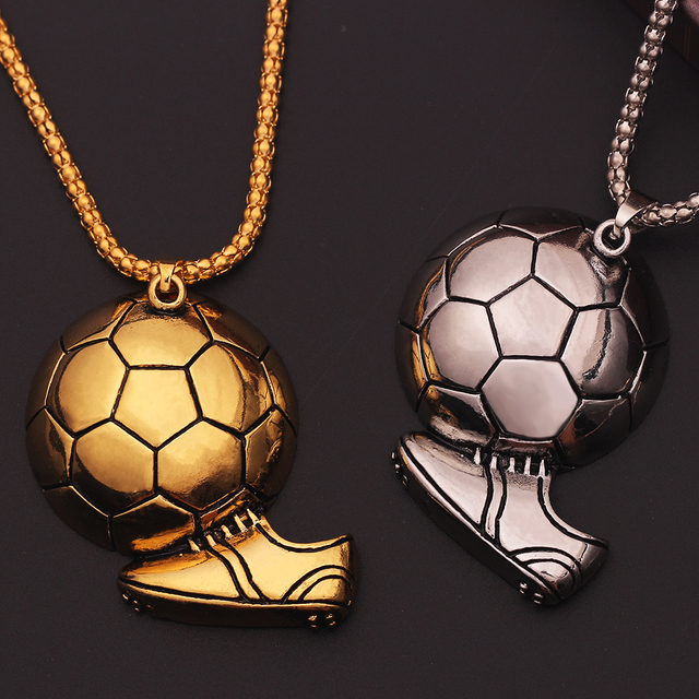 Charm Football Soccer Boots Shoes Basketball Pendant Necklace Men Boy Children Gift Necklaces Sporty Style association Jewelry