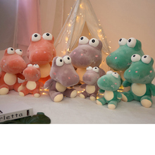 купить 1pc 25-50cm Simulation Crocodile Plush Toys Big Eye Stuffed Animals Cushion Soft Pillow Doll Home Decoration Gift for Children дешево