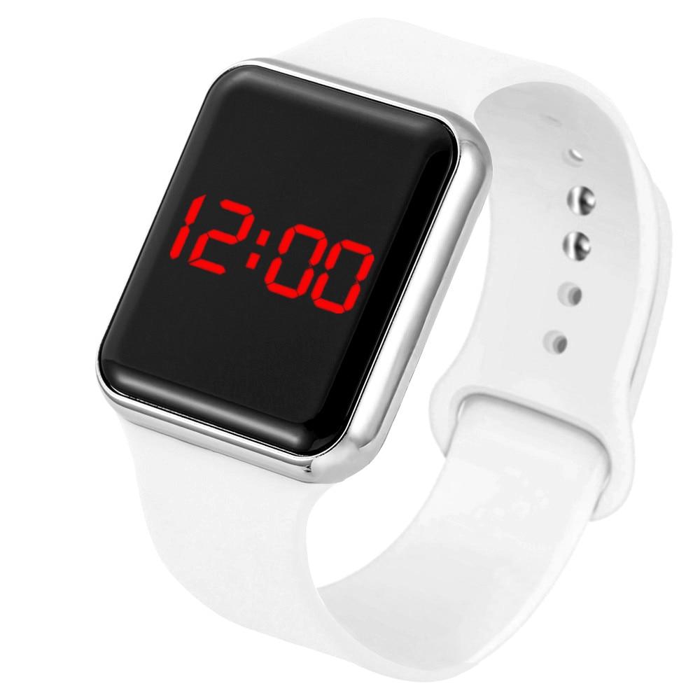 Sport Digital Watch Women Men Square LED Watch Silicone Electronic Watch Women's Watches Clock relogio feminino digital reloj(China)