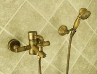 Vidric Bathtub Faucets Bamboo Shower Faucet Mixer Tap Antique Bronze Brass Bath Shower Faucet Set Bathtub Faucet Torneira Bat