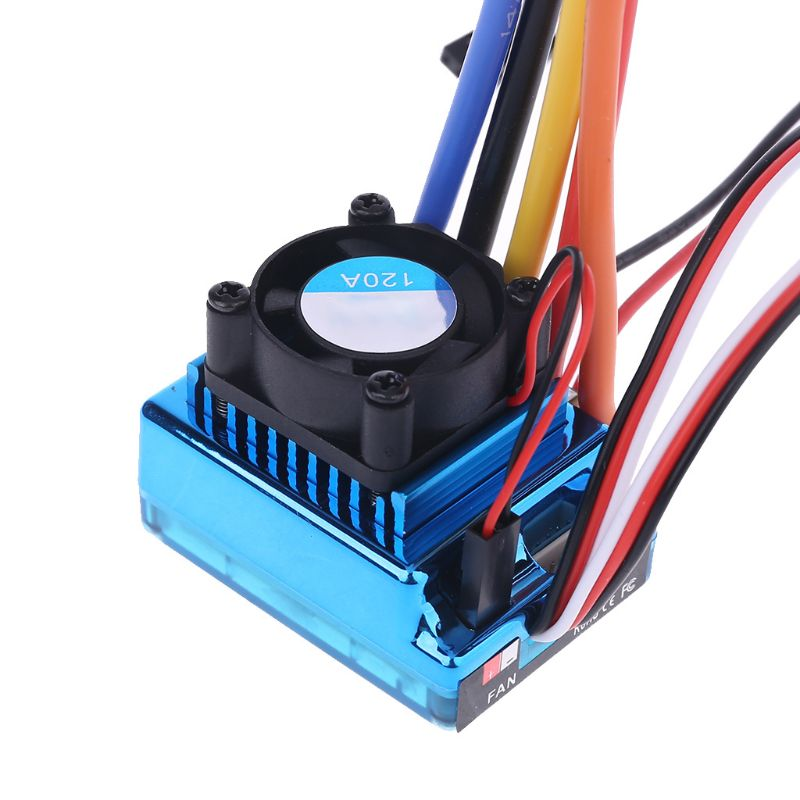 120A Waterproof Sensorless Brushless Speed Controller ESC For RC Car Truck Y4QA