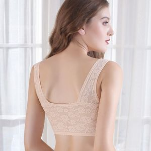 Image 2 - Slim traceless front button sports underwear, womens steel ring bra, beautiful back bra, gathering, sexy receptacle and anti sa