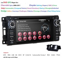 6.2Inch Car DVD Player For Chrysler/Dodge/RAM/Jeep/Grand Cherokee With GPS Navigation BT Radio Free16GMaps Card SWC RDS FM/AM SD