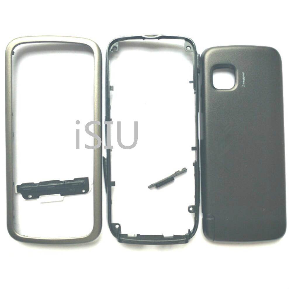 Back Cover For <font><b>Nokia</b></font> <font><b>5230</b></font> Housing Battery Cover <font><b>Case</b></font> With Keyboard Mobile Phone Replacement Repair Parts Black White Blue New image