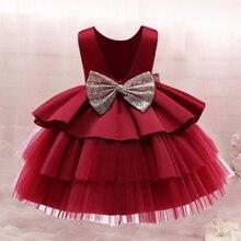 Платье для маленькой принцессы; Платье для новорожденных на день рождения для девочек вечерние 1st на крестины, платья для малышей, для мален...