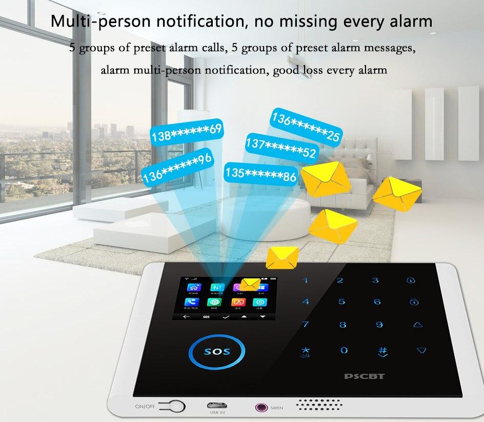 Awaywar wifi GSM домашняя охранная смарт сигнализация комплект 4,3 дюймов сенсорный экран приложение дистанционное управление RFID Arm Disarm - 4