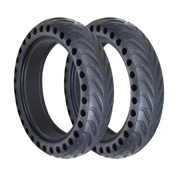Scooter Tire for Xiaomi Mijia M365 Skateboard Hollow Solid Tyres Shock Absorber Electric Scooter Rubber Tires for Xiaomi M365 suitable for xiaomi m365 electric scooter solid honeycomb explosion proof stab proof tire free inflatable rubber tire 8 5 2 0