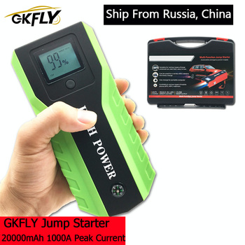 GKFLY High Power 20000mAh 1000A Car Jump Starter 12V Starting Device Power Bank Car Battery Booster Charger For Gasoline Diesel