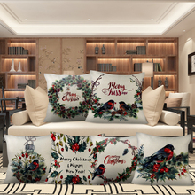 Cushion-Covers Pillowcase Funda Flower-Bird Christmas Sofa-Decoration Linen Home Nanacoba