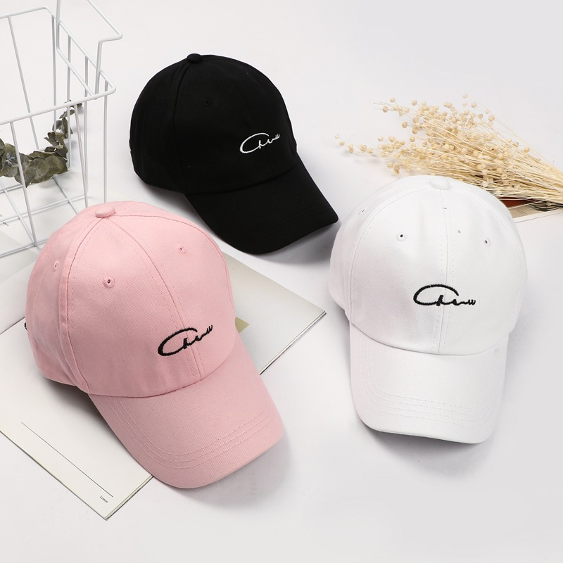 New Style Baseball Cap Korean-style Solid Color Embroidered Sun Hat Versatile COUPLE'S Evergreen Years Brim Hat Fashion Hat Whol