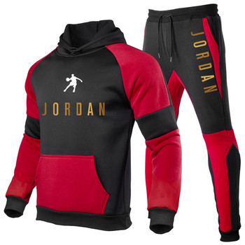 New Fashion Mens Clothing Pullovers Sweater Cotton Men Tracksuits Hoodie Two Pieces + Pants Sports Shirts Fall Winter Track suit