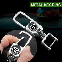 1 шт. новый продукт бейдж металлический для автомобилей логотип брелок для ключей авто брелок с эмблемой для Toyota C-hr Prado Rav4 Yaris Hilux Prius автомоби...