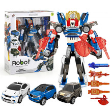 3in1 Transformation Tobot Robot Toy Deformation Action Figure Merge Car Kids Birthday Gift Educational Cartoon Toys For Children alloy robot transformation car toys alloy deformation p olice robot bus toy for kids children birthday christmas gift