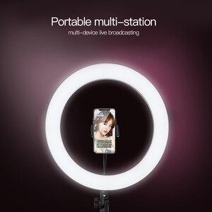 Image 5 - Fotografia anel luz mini led selfie luz estúdio fotografia foto luzes preencher luz 160/260mm com 10 níveis de brilho