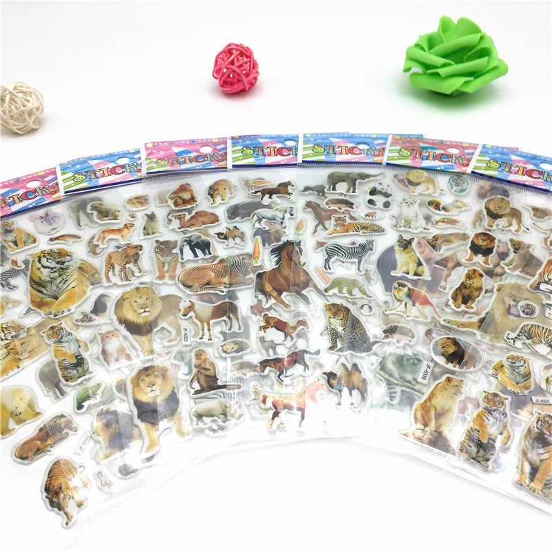 Happyxuan 50 folhas Miúdos Bonitos 3D Inchado Adesivos Animais Carros Dos Desenhos Animados Dos Peixes do Oceano Presente Meninos Escola Recompensa Professor Scrapbooking Brinquedo