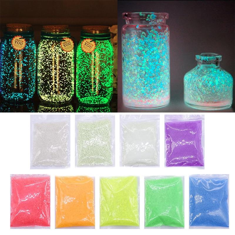 Colorful Luminous Sand Glowing Gravel Party Bright Paint Star Wishing Bottle Aquariums Fluorescent Particles Noctilucent Sand