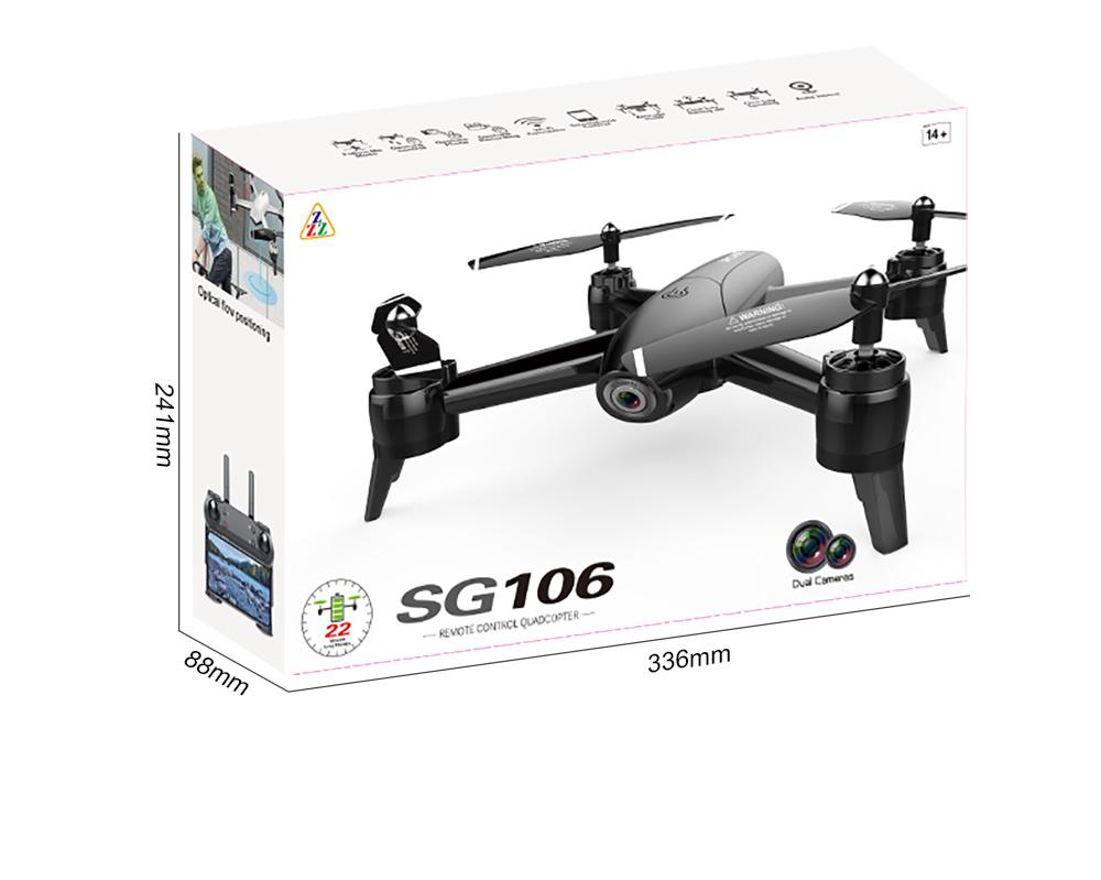 SG106 RC Drone Optical Flow 1080P 4K HD Dual Camera Real Time Aerial Video RC Quadcopter Aircraft Positioning RTF Toys Kids