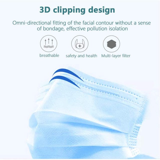 300Pcs N95 Face Mouth Anti Virus Mask Disposable Protect 3 Layers Filter Mouth Masks Mouth-muffle Bacteria Proof Flu Mask FFP2 4