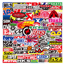 Graffiti JDM Racing Car Modification Waterproof Sticker Motorcycle Bicycle Helmet Motor Suitcase Laptop Trolley Stickers