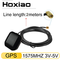 Hoxiao автомобильная антенна GPS SMA разъем 2 м кабель GPS приемник авто антенна адаптер для автомобиля навигация ночное видение камера плеер