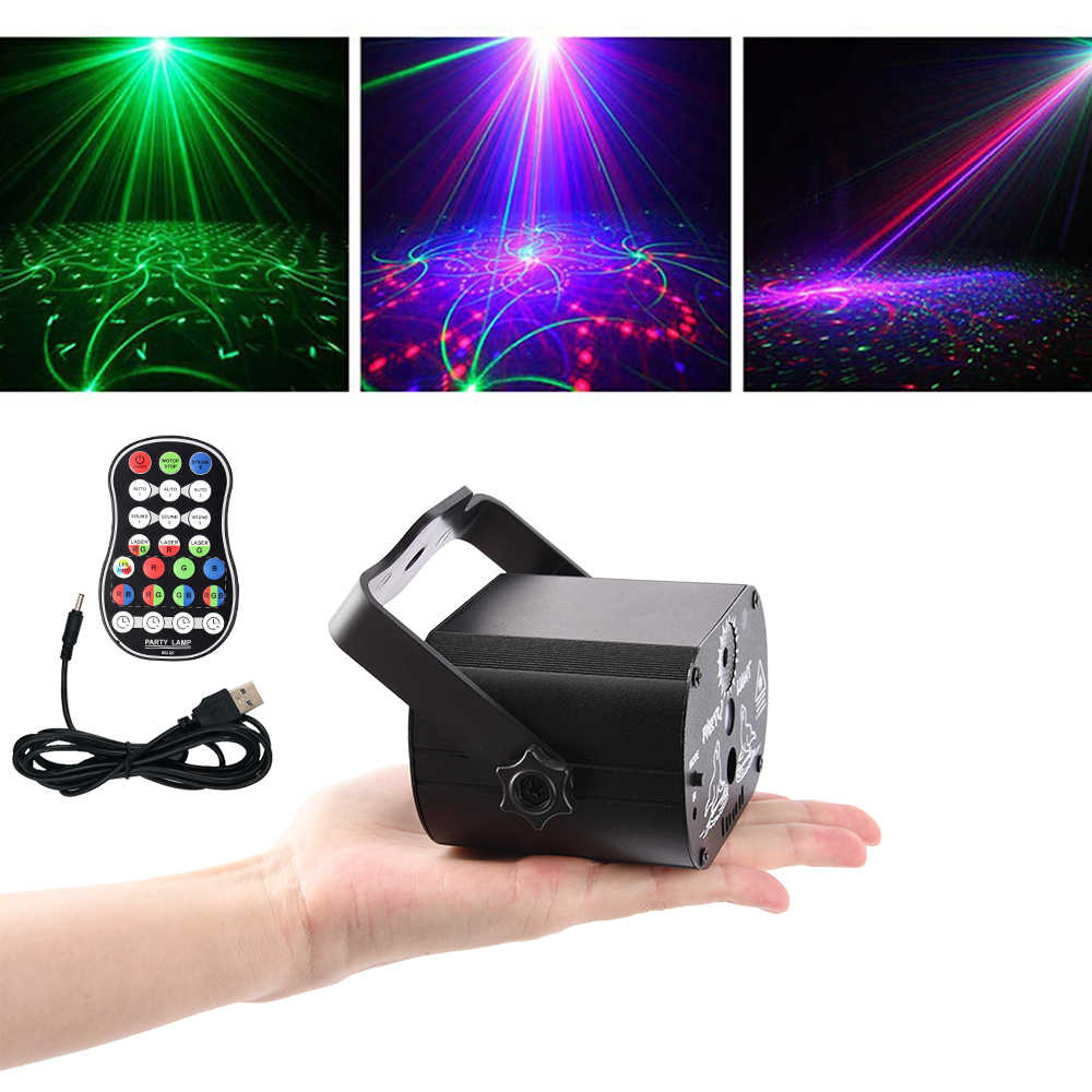 Usb Disco Light Effect Audio Star Whirlwind Laser Projector Stage Disco DJ Club Bar KTV Family  Led Party Light Show