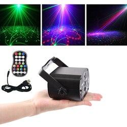LEVOU Efeito de Luz de Discoteca Iluminação de Palco de Áudio levou Projetor Laser DJ Club Bar KTV Família Led RGB Party Light Show com o Controle