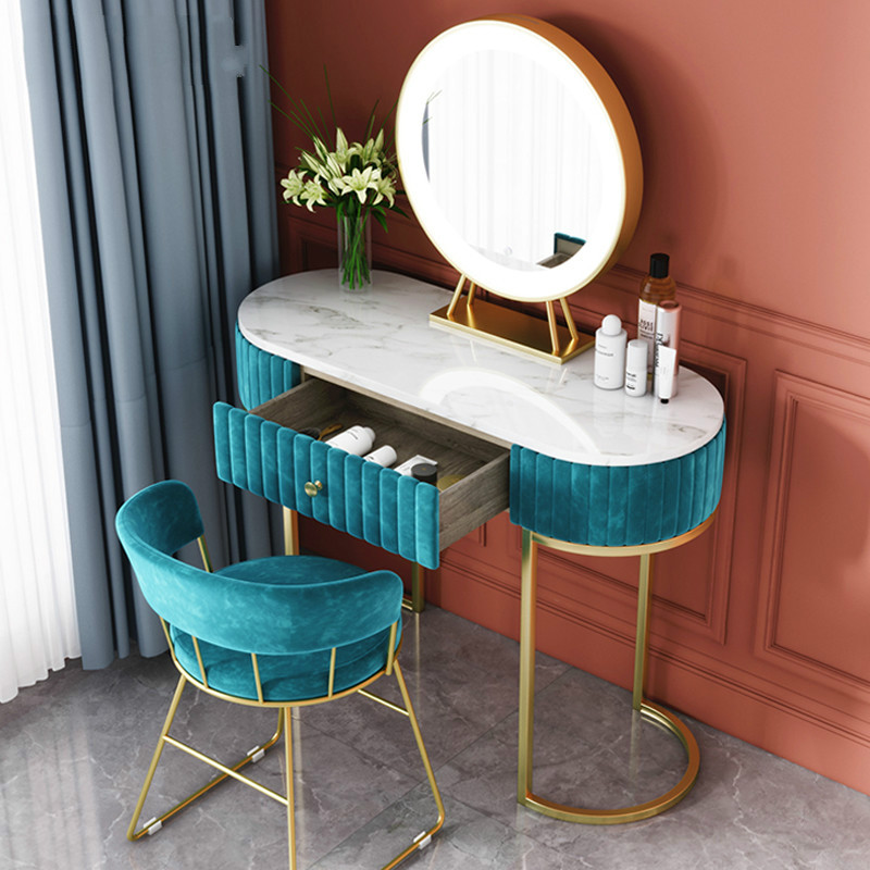 Nordic Marble Dressing Table Bedroom Modern Minimalist Dressing Table Female European Small Apartment Dressing Table NEW