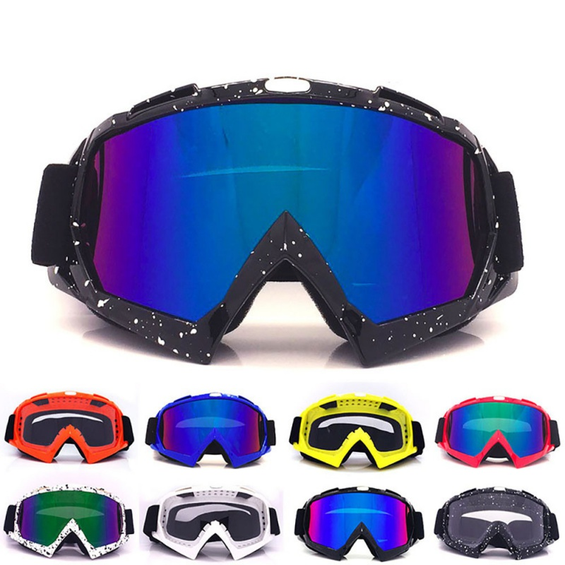 Unisex Ski Goggles Winter Snowmobile Motocross Sunglasses Windproof UV Protection Mask Outdoor Sport Glasses