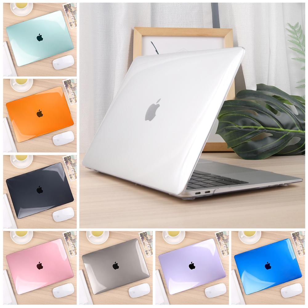 Crystal Clear/Matte Capa Dura Caso Para Macbook Retina Air Pro 11 12 13 15 polegada Barra de Toque 2019 tocar ID A1932 A2159 A1706 A1989