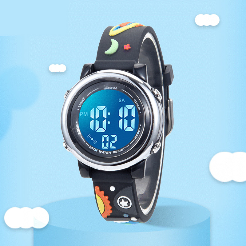 TurnFinger Hot Sale 2020 Children% 27s Electronic Watch 3D Cute Creative Pattern Fashion Luxury Silicone Jelly Strap Waterproof