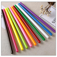 Mixed colors Hot Silicone sticks 11MM Hot melt adhesive 7mm glue for the gun Use for home DIY Colorful hot melt glue sticks cheap sackful CN(Origin) NONE 10pcs Yellow 88 ± 5℃