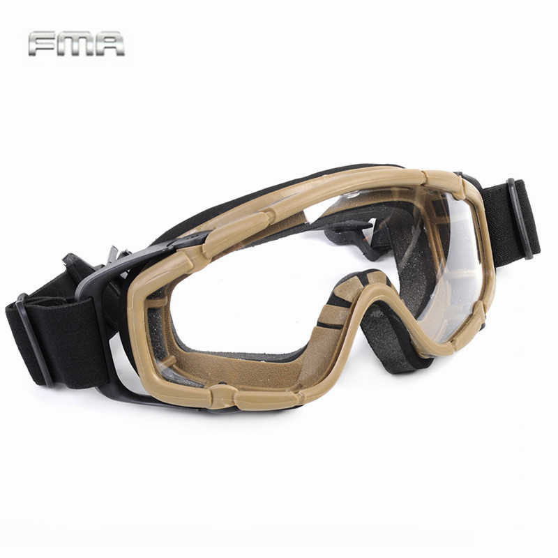 FMA Tactical Airsoft Goggles Ballistic Glasses Military 2pcs of Lens for Helmet Paintball Eyewear Protection oculos militar
