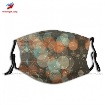 Cloth Cool LeMans Polygon Circle Pattern Mouth Face Mask Dust Reusable Cheap Unisex Facial Mask With Filter image