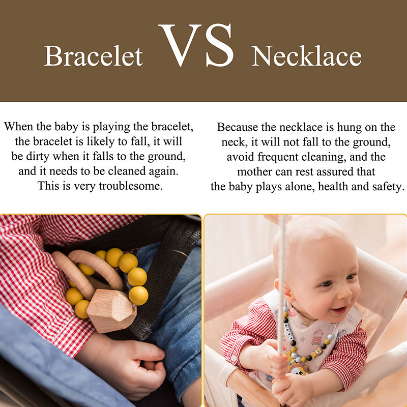 Baby Chew Bite Toy Sell Well Mother Round Pendant Necklace Pracrical For Kids 9L