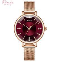 Роскошные изящные модные часы с браслетом из кристаллов 5 цветов