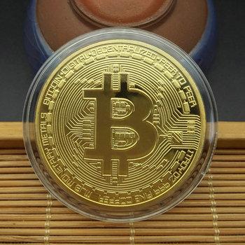 1 sztuk kreatywny pamiątka pozłacane Bitcoin moneta kolekcjonerska wielki prezent Bit moneta kolekcja sztuki fizyczna złota pamiątkowa moneta tanie i dobre opinie CN (pochodzenie) Nowoczesne Platerowane Europejska 2000-Present MASKOTKA Bitcoin Coin 40mm 1 5mm Historical Memorial Coin
