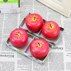Lovely Red Design for Apple Shape Fruit Scented Candles Christmas Eve Gifts Christmas Day Gifts Christmas Creative Home Decor 5