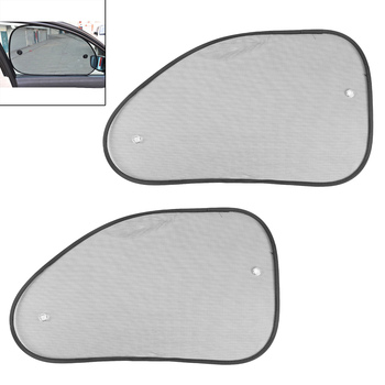 2pcs Car Auto Window Roll Blind Sunshade Window Screen Sun Shield Visor 65*38cm image