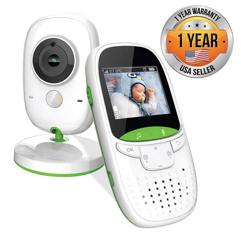 Wireless Video Baby Monitor 2.0 Inch Nanny Camera 2 Way Talk Night Vision IR LED Temperature Monitor Infant Baby Sleep Cam VB602