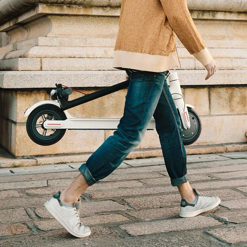Electric Folding Scooter Ultralight Aluminum Alloy Bike With Double EABS Disc Break Portable Li-Battery Bicycle City Walk Pro