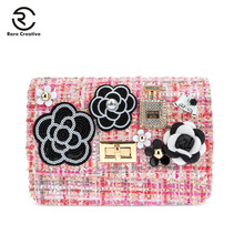 RARE CREATIVE Flowers Designer Flap Bags For Womens Pearl Chain Fashion Shoulder Bags 2019 High Quality Messenger Bags HM6019 lemon jelly полусапоги и высокие ботинки